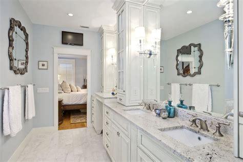 Bedroom Bathroom Closet Design Master Bathroom And Closet Suite Traditional Bathroom