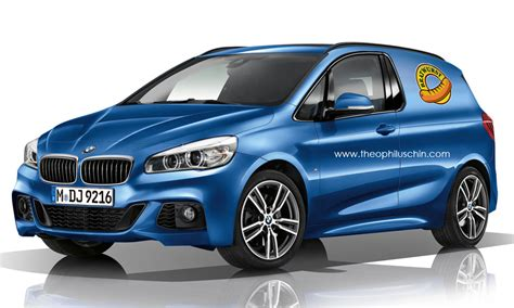 bmw van bmw 2 series bratwurst van rendered autoevolution