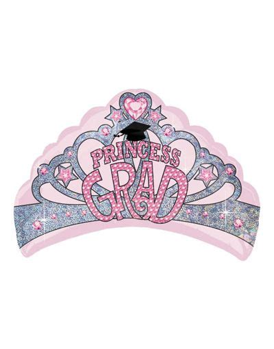 26 Princess Grad Tiara graduation balloon princess tiara 27in city