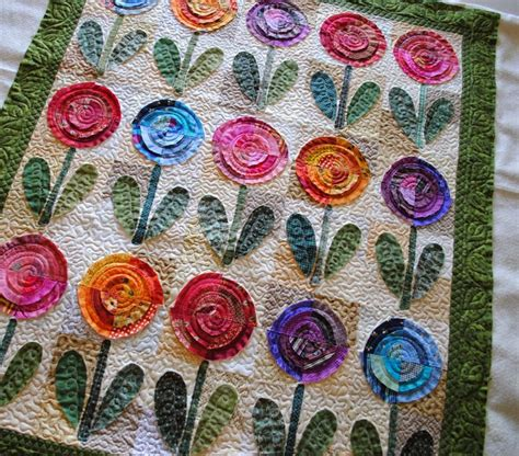 flower design quilt love the bright colors and textures of this bullseye