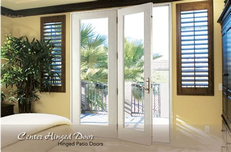 center hinged patio door neuma center hinged doors installed performance windows