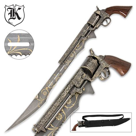 Kitchen Devil Knives otherworld steampunk gun blade sword with nylon shoulder