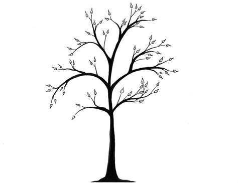 simple drawing tree giveaway simpl simple tree drawings trees