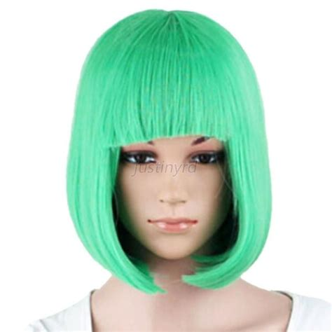 hair wigs women s sexy short bob hair wig with straight bangs