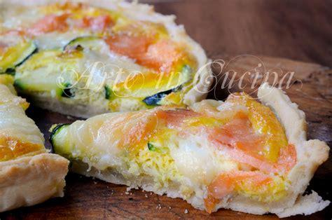 ricetta per cucinare il salmone crostata salmone e zucchine ricetta veloce arte in cucina