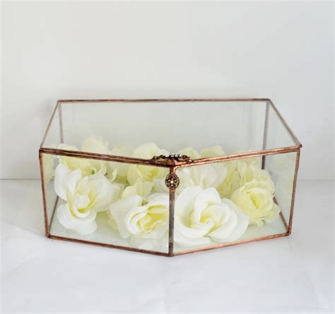 Wedding Envelope Box by Glass Envelope Holder Glass Box Wedding Card Box By