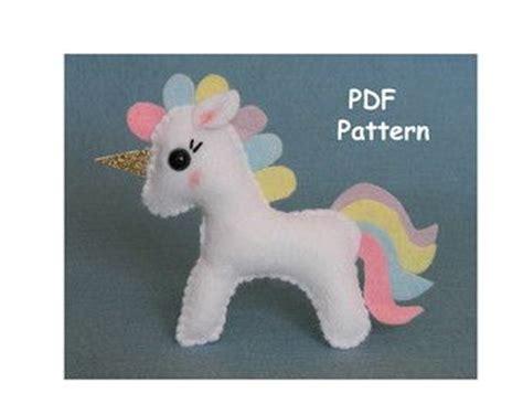 felt pattern unicorn unicorn sewing pattern felt unicorn plush unicorn by