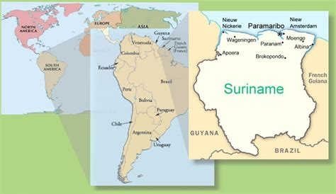 where is suriname on world map where is suriname on world map 28 images suriname map