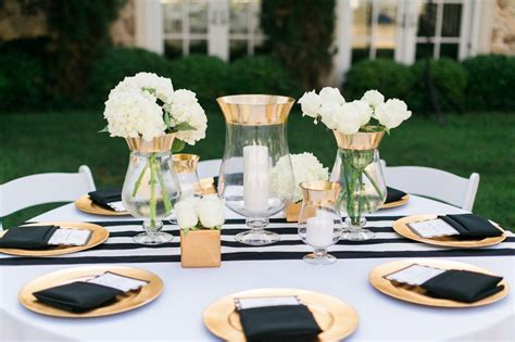 black white and gold centerpieces for wedding vrais mariages d 233 coration mariage tendance