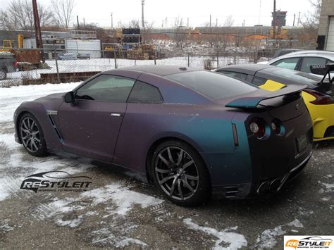 nissan gtr matte blue restyle it highlights 2013 vehicle customization shop