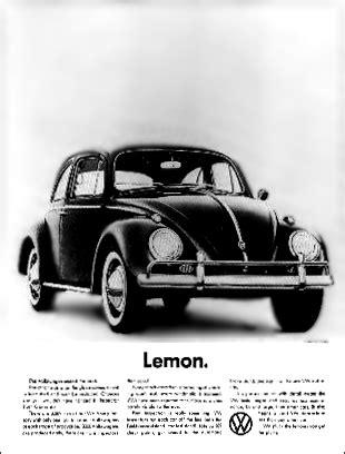 who created the lemon advert for volkswagen vintage volkswagen print ad advertising