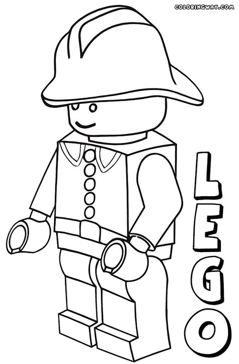 lego minifigure coloring sheet coloring pages
