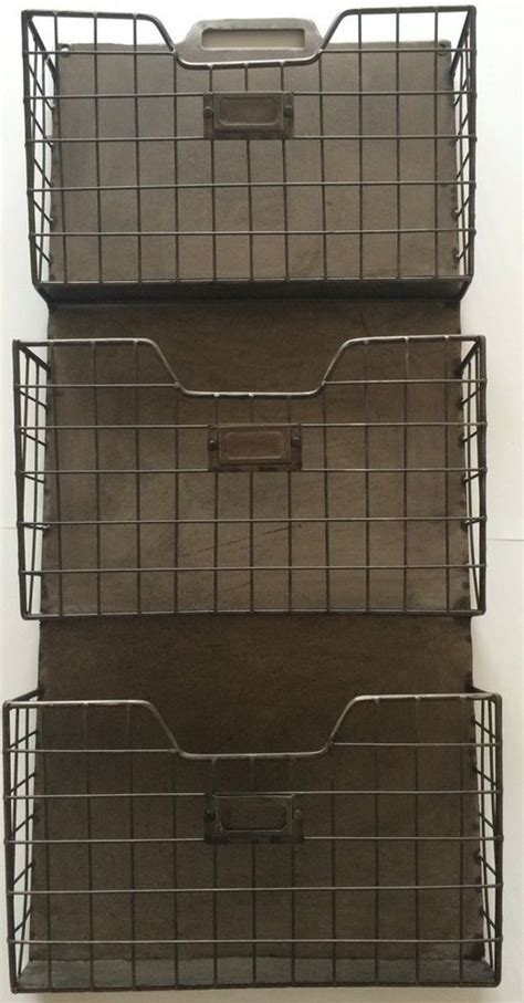 wall pocket organizer vintage style metal triple wall pocket organizer file