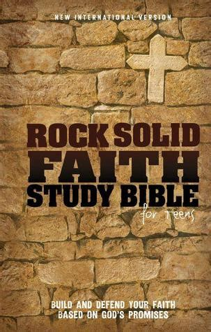 rock solid books niv rock solid faith study bible for hardcover