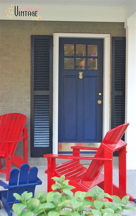 painting your shutters with front door paint modern