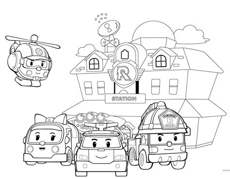 robocar poli coloring pages games off road truck coloring page 700x595 fire truck coloring