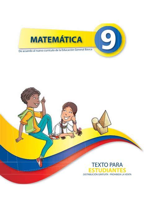 el libro de matematicas de decimo ao 2016 2017 matem 225 tica 9no a 241 o