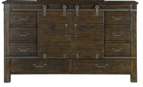 Sliding Dresser pine hill rustic pine wood sliding door dresser from