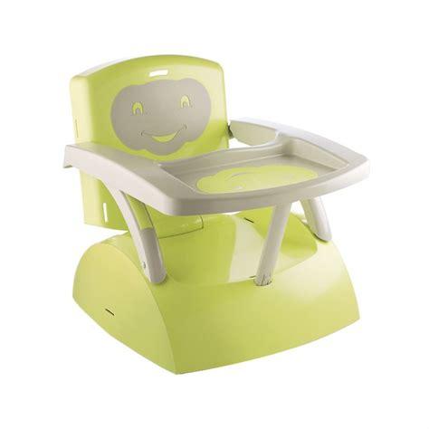 siege bebe pour chaise thermobaby r 233 hausseur de chaise babytop vert vert et gris