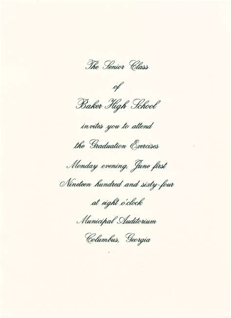 high school graduation invitation letter the baker scrapbook