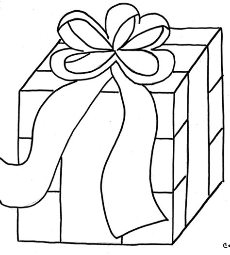 coloring page of gift box ribbon gift boxes coloring pages