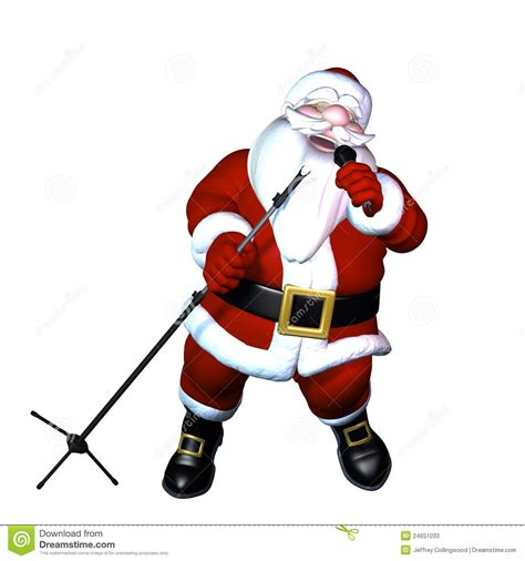 santa singing stock illustration image of perform cool