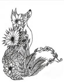 coloring pages for adults difficult animals fox coloring page more mandalas