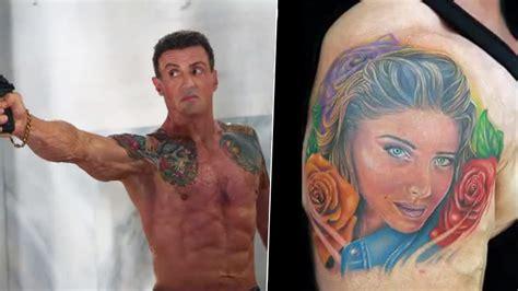 25 stars et leurs tatouages sylvester stallone allocin 233