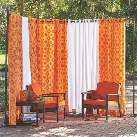cortinas food outdoor curtain rod with post set food pinterest