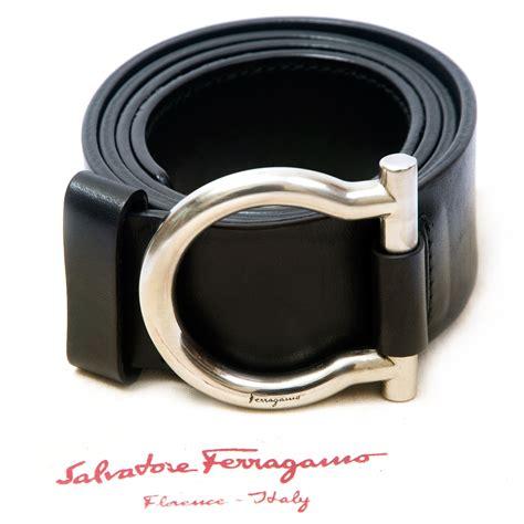 salvatore ferragamo black leather belt labelcentric