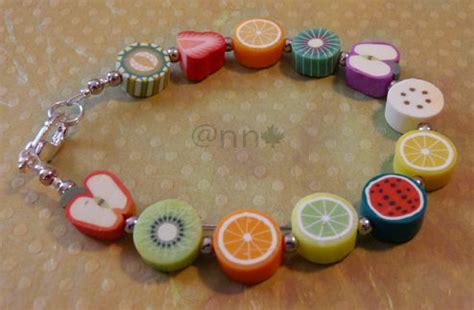Bracelet fruits fimo sur cablé (N)   Photo de BRACELETS   Le Blog de Anne C.