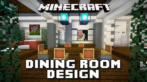 How To Make Dining Room In Minecraft Minecraft Tutorial How To Make Dining Room Furniture