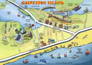 galveston on map galveston map digital by kevin middleton