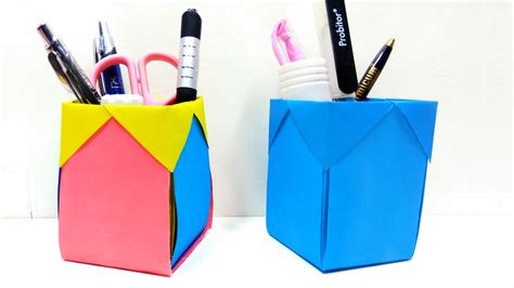 Pen Organizer For Desk by How To Make Pen Stand Back To Diy Paper Desk