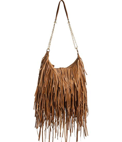 leather fringe bags purse boutique leather quot fringe layers quot bohemian inspired hobo shoulder bag purses