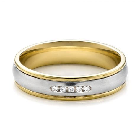 s two tone gold and wedding band 100156