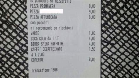 cameriere bari scontrino omofobo in pizzeria il titolare quot un errore