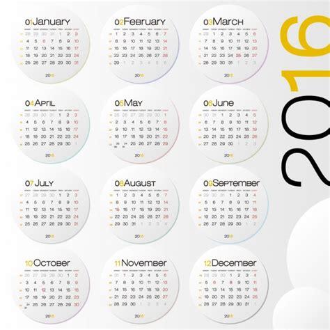 calendario anual calendar template 2016