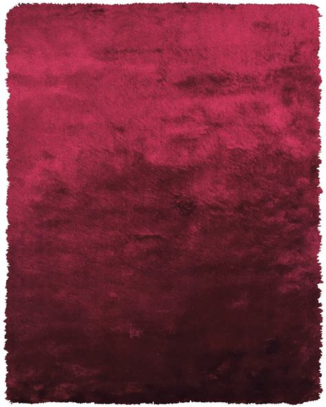 cranberry rug plush collection silk shag area rug in cranberry by bd burke decor