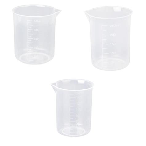 500ml to cups 150 250 500 ml beaker of clear plastic 3 pcs measuring cup tool bt s7f1 ebay