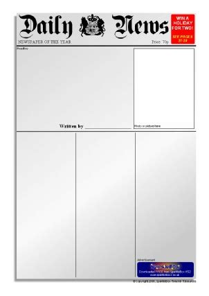 layout of newspaper article ks2 newspaper writing frames and printable page borders ks1