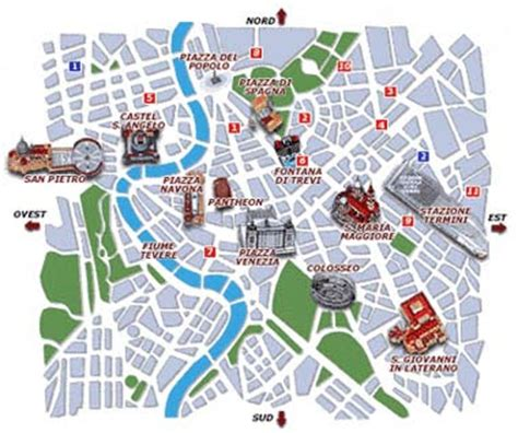 rome map tourist attractions rome italy travel guide general info tourist