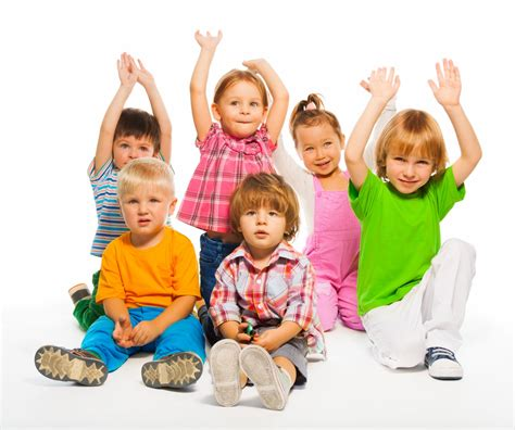 by 3 4 years a resilient child should be able to fend for seven groups of children in 7 hq images isolated on white