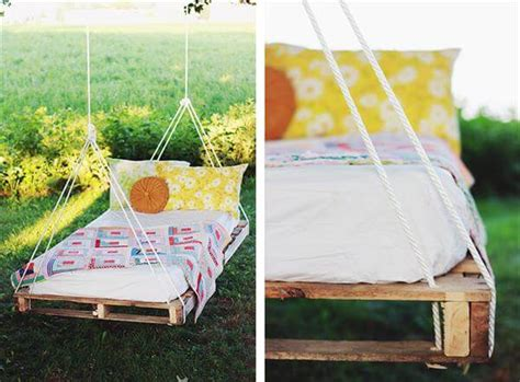 bed swing made from pallets diy pallet swing bed instructions 101 pallets