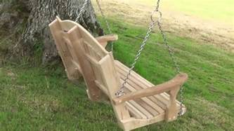 how to hang a swing seat from a tree youtube
