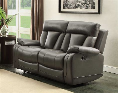 homelegance reclining sofa homelegance ackerman reclining sofa set grey bonded