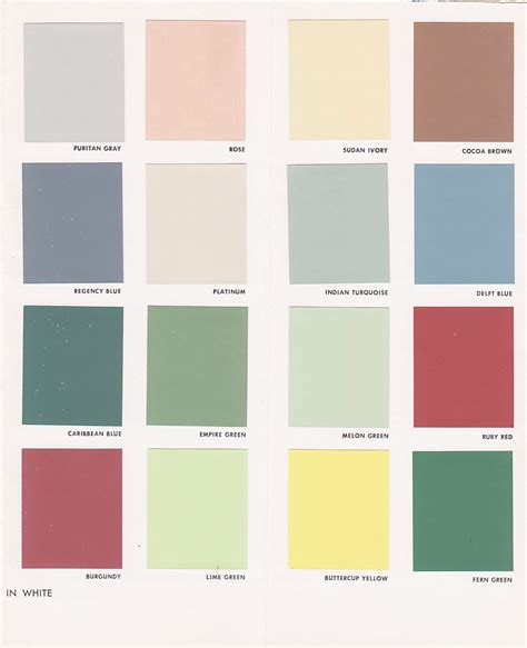 retro colors 1950s vintage goodness 1 0 vintage decorating 1950 s paint
