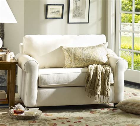 buchanan couch pottery barn buchanan roll arm upholstered twin sleeper sofa pottery barn