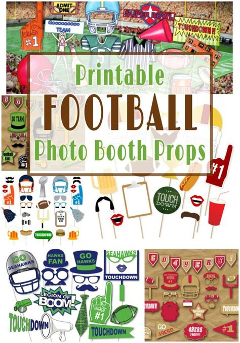 printable hockey photo booth props printable football photo booth props piłka nożna