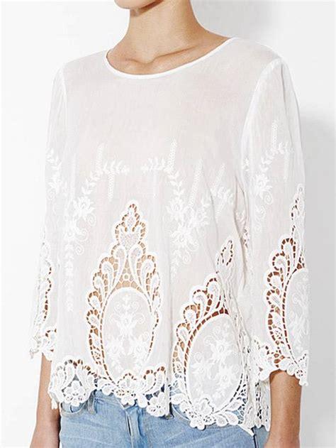 cynthia rowley white  cotton vita dolce embroidered eyelet blouse top small ebay